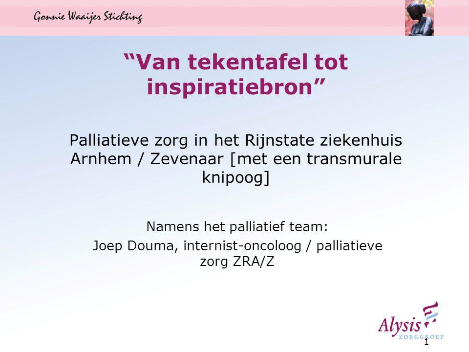 Van tekentafel tot inspiratiebron Palliatieve zorg in het Rijnstate ziekenhuis Arnhem / Zevenaar [met een transmurale knipoog]